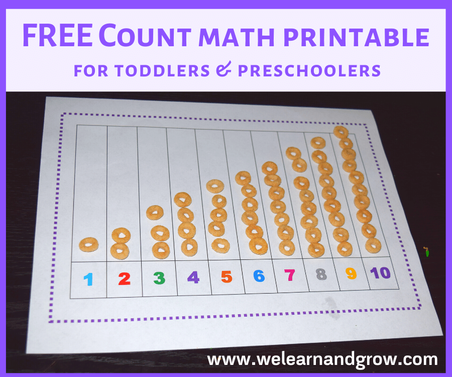 Toddler Counting Activity I FREE Math Printable 
